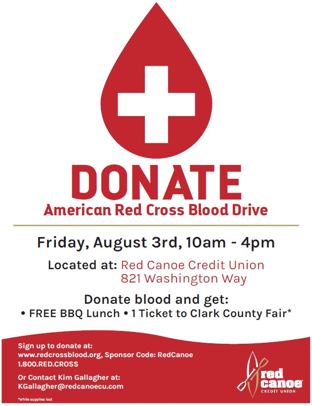 Red Canoe American Red Cross Blood Drive Kelso