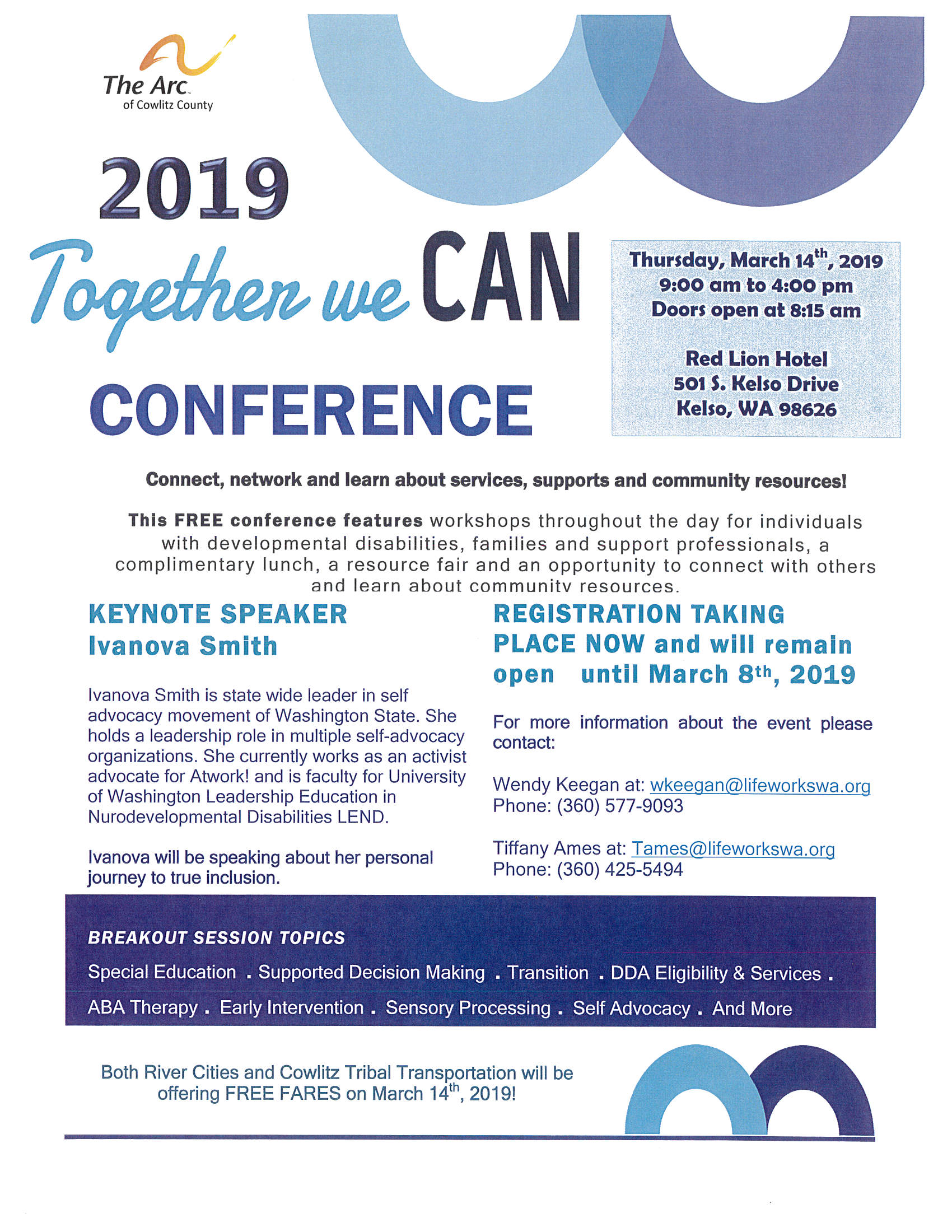 Together We Can Conference - The Arc of Cowlitz County