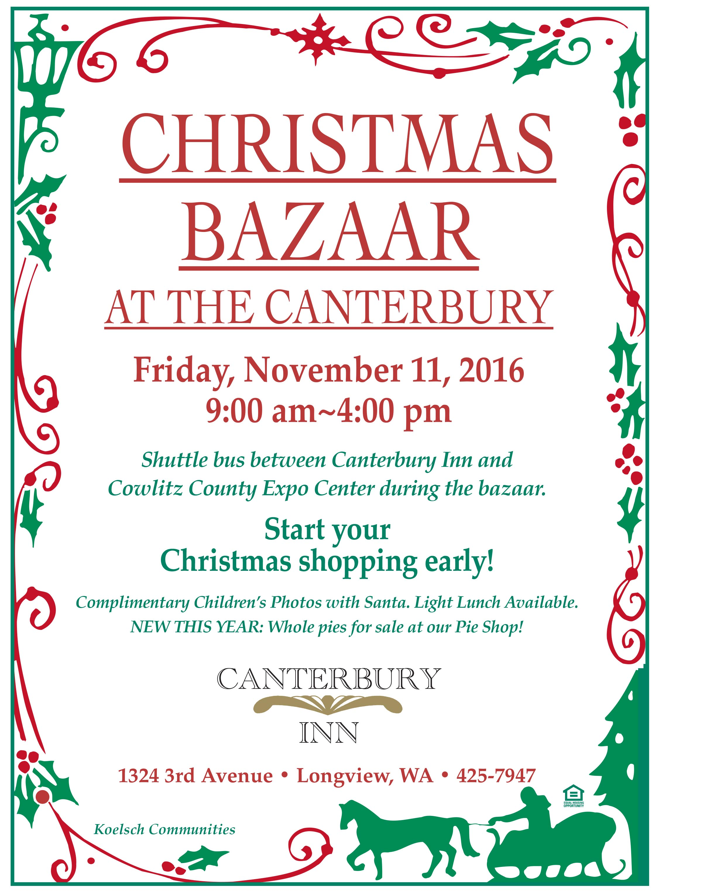Canterbury Inn Christmas Bazaar | Kelso Longview Chamber of Commerce